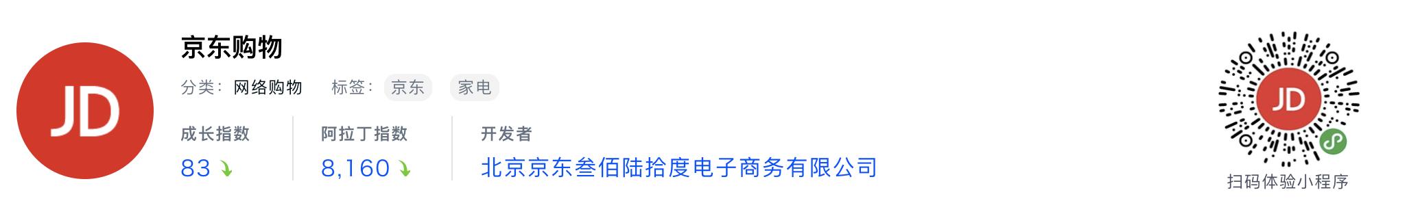 WeChatミニプログラム最新ランキングTOP20【2019年6月版】3位:京东购物