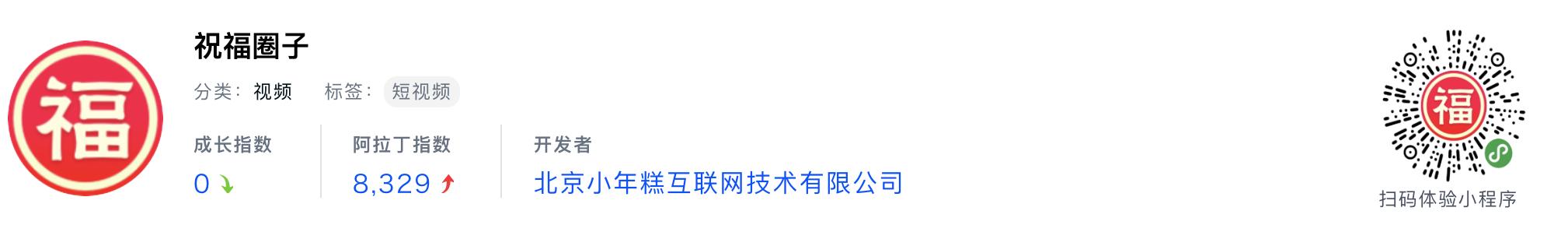 WeChatミニプログラム最新ランキングTOP20【2019年6月版】10位:祝福圈子
